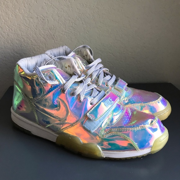 outlet store 4961e 8245d Nike Air Trainer 1 Super Bowl Hologram Sneakers. M 5c0d82198ad2f982d5431044